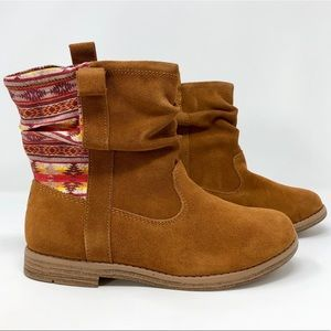 Toms Laurel Brown Suede Sunset Stripe Ankle Boot
